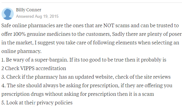 Safe Online Pharmacy Definition